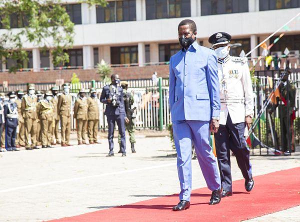 Edgar Lungu. Pic: Martin Mbangweta/Xinhua News Agency/PA Images