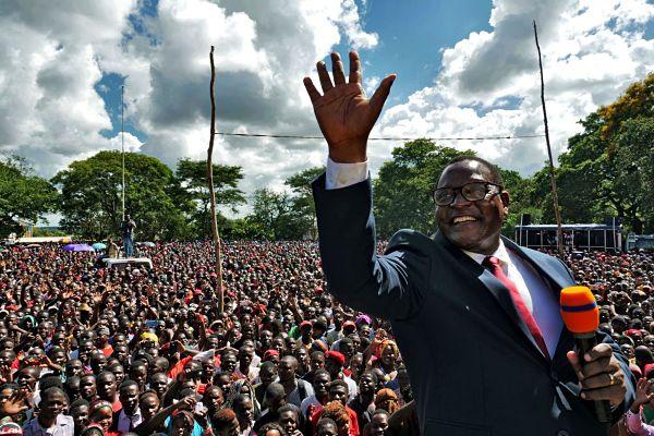 Lazarus Chakwera. Pic: /Eldson Chagara / Reuters / Alamy