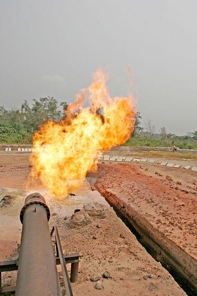 Gas flares in the Delta. Pic: Mark Allen Johnson/Zuma Press/PA Images