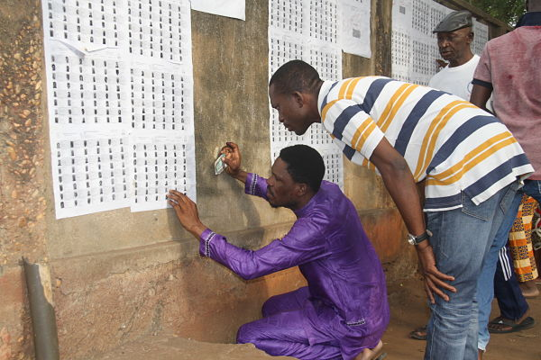 Voters in Togo, 22 February 2020. Pic: Xiao Jiuyang/Xinhua News Agency/PA Images