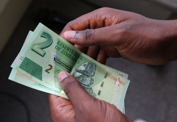 New Zim dollar bank notes. Pic: Shaun Jusa/Xinhua/PA Images