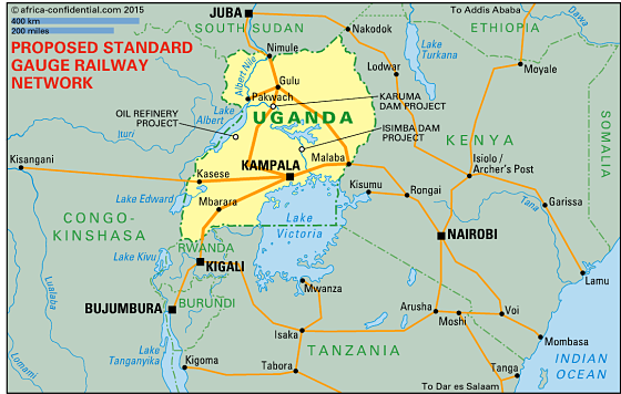 Proposed Standard Gauge Railway Network   Image © Africa Confidential 2015