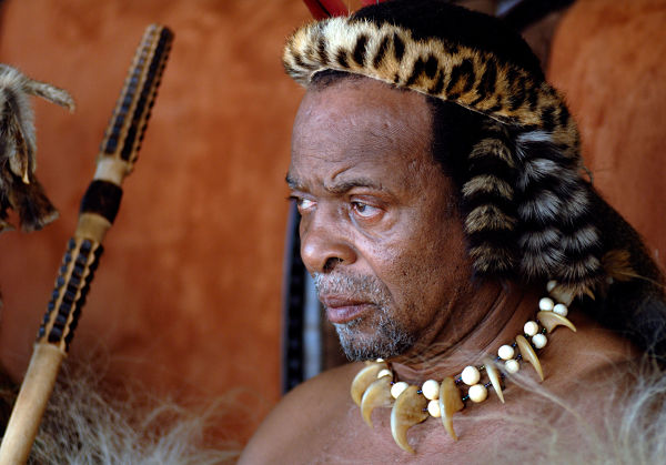 King Goodwill Zwelithini in September 2007. Pic: Rogan Ward / Africa Media Online / Alamy