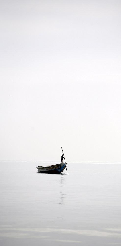 Fisherman off the Gambian coast. Gary Calton / Panos