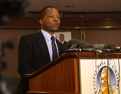 RBZ governor John Mangudya. Pic: Shawn Jusa/Xinhua News Agency/PA Images