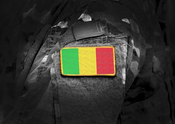 Mali flag on military uniform. Pic: Bumble Dee / stock.adobe.com
