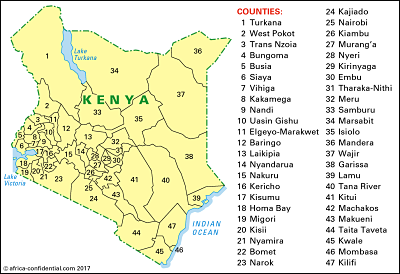 Map Copyright © Africa Confidential 2017
