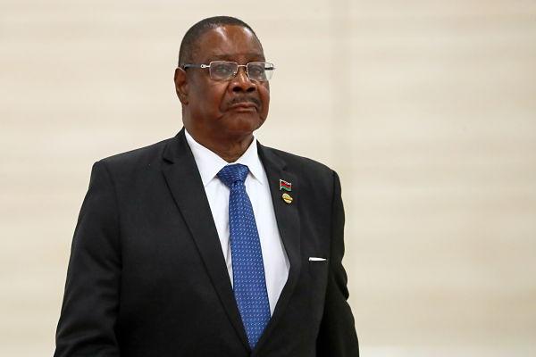 Peter Mutharika. Pic: Anton Novoderezhkin/Tass/PA Images