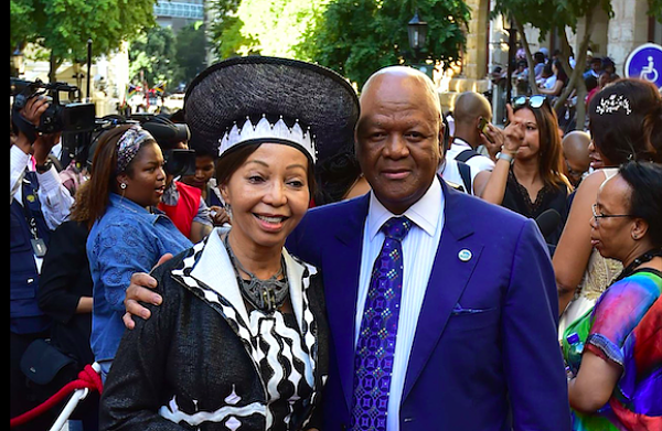 Bridgette Motsepe and her husband Jeff Radebe. Pic: GCIS
