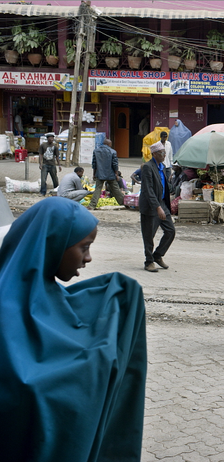 KENYA: Eastleigh, a neighbourhood in Nairobi, also known as 'little Mogadishu' where most residents are from Somalia. Sven Torfinn / Panos