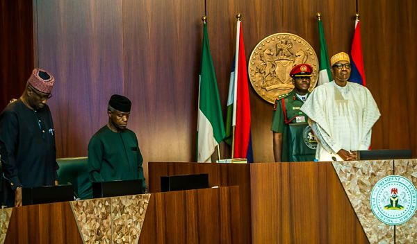 President Buhari presides over the Federal Executive Council in the Council Chambers, Abuja. Pic: The Statehouse, Abuja