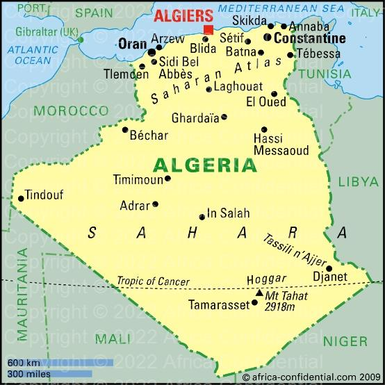 Algeria Browse By Country Africa Confidential - Where is algeria